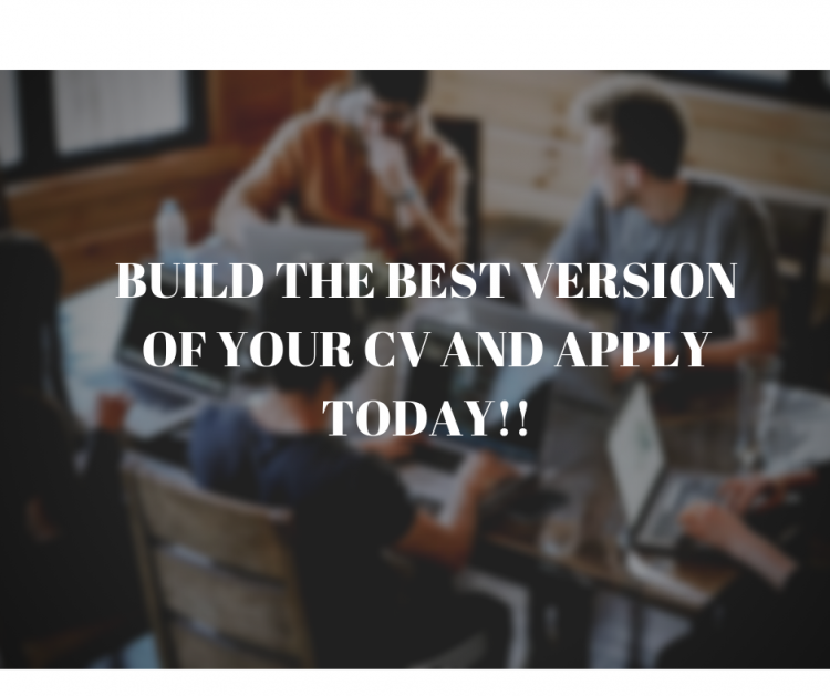 Build the best version of your CV and apply today!